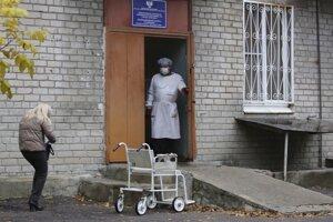 Zdravotnícke zariadenie v ukrajinskom Donecku.