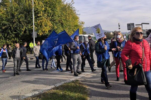 Dnešný protest v Nitre.