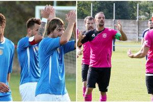 Budú sa v nedeľu tešiť futbalisti Bábu (vľavo) či Branču?
