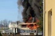 Požiar lode v Námestove.