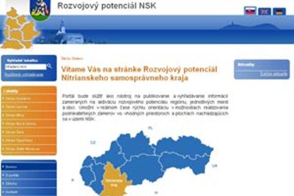 Portál rozvojovypotencial.unsk.sk si možno otvoriť samostatne alebo cez odkaz na oficiálnej stránke kraja www.unsk.sk. V testovacej prevádzke je od januára.