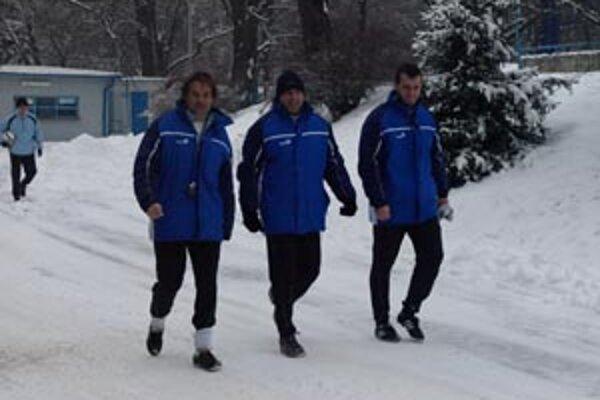Trénerské trio Galád, Vrabec, Mesároš pracuje od dnešného rána už naplno.