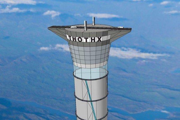Vesmírne koráby by štartovali z vrcholu veže.