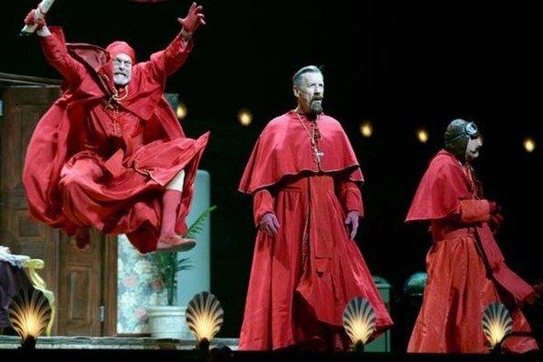 """Slávny """"inkvizičný"""" skeč nemohol v predstavení chýbať."""