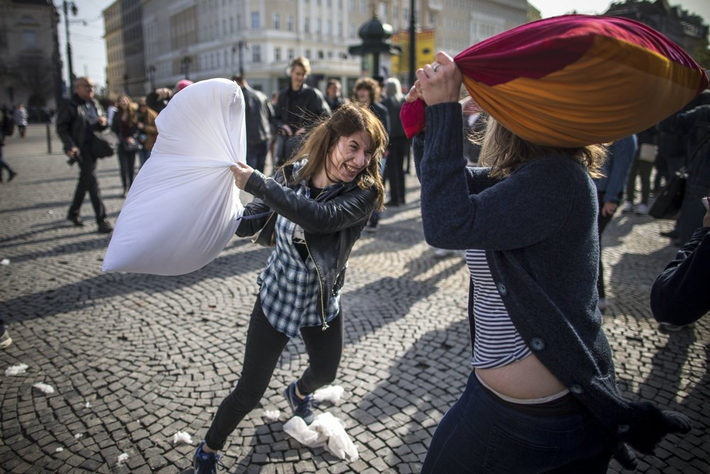 World Pillow Fight Day.