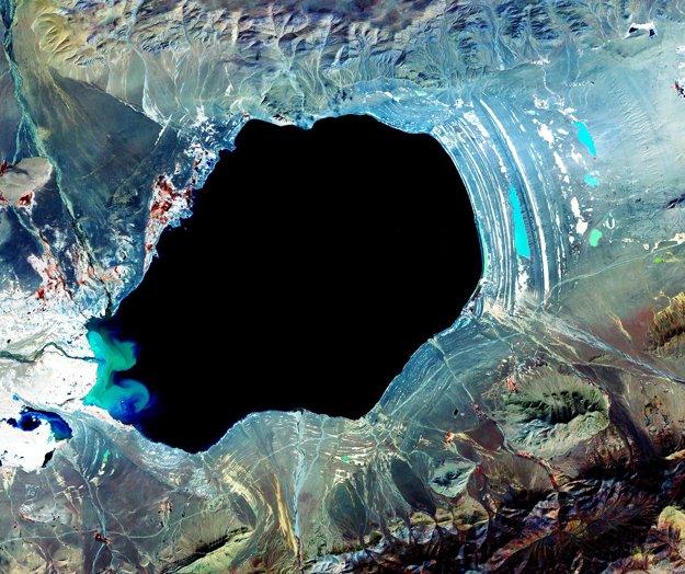 Jazero Dagze v Tibete.