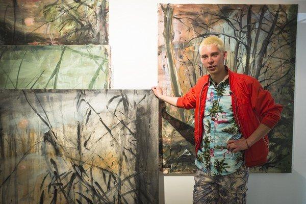Andrej Dúbravský, maliar, VŠVU skončil v roku 2013, v súčasnosti pracuje v Bratislave a New Yorku.