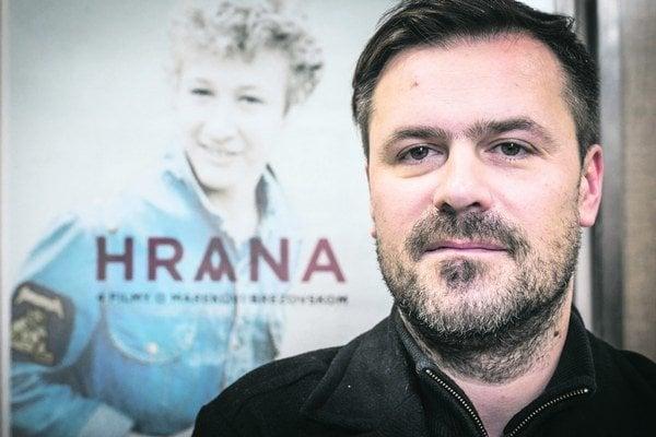 Režisér Patrik Lančarič po premiére filmu.