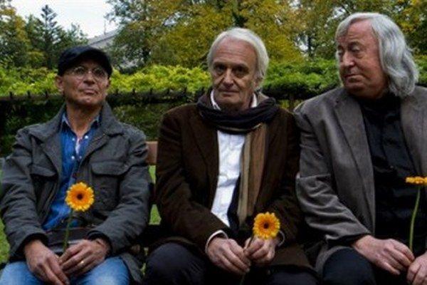 Oldřich Kaiser, Didier Flamand a Jiří Lábus. ⋌