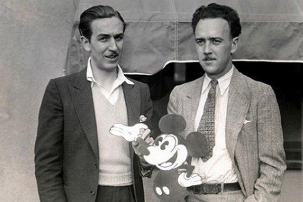 Walt Disney a Ub Iwerks.