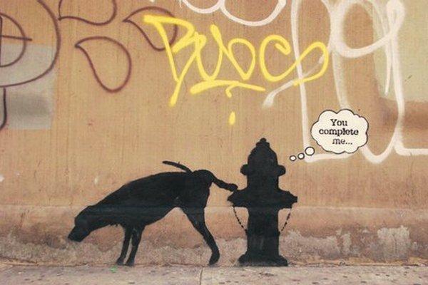 Banksy zanecháva stopy po celom New Yorku.