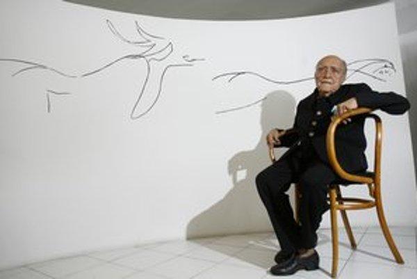 Oscar Niemeyer pri oslavách stovky.