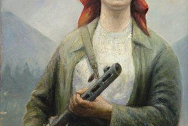 Ján Mudroch: Partizánka na stráži pod Rozsutcom (1954). Symbol výstavy a jedno z najkrajších spodobení ženy v dejinách slovenského výtvarného umenia.