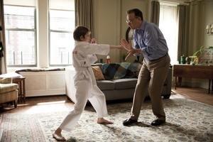 Thomas Horn ako jedenásťročný Oscar a Tom Hanks v úlohe jeho otca.