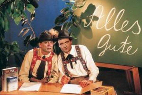 Súčasťou satirického cyklu Česká soda bola aj pravidelná rubrika Alles gute.