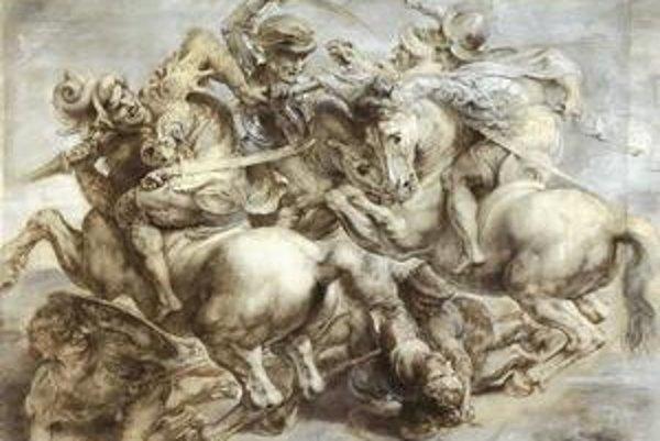 """Leonardo da Vinci aj Michelangelo Buonarroti dostali podobnú zákazku. """"Súťažnú"""" maľbu bitky však ani jeden nedokončil."""