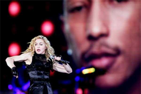 Madonna v Prahe.