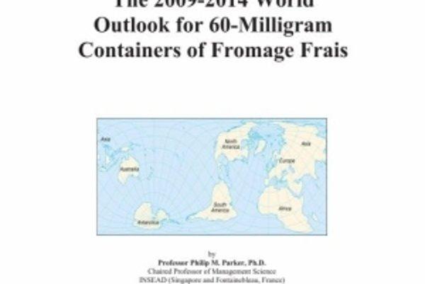 Kniha Svetové vyhliadky na 60-miligramové nádoby na krémový syr v rokoch 2009-2014.