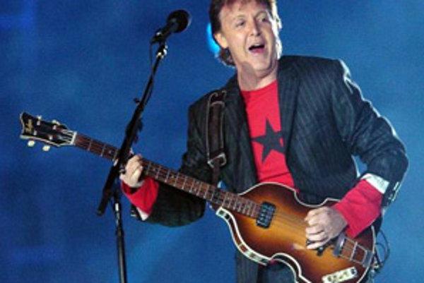 Britská rocková legenda Paul McCartney.