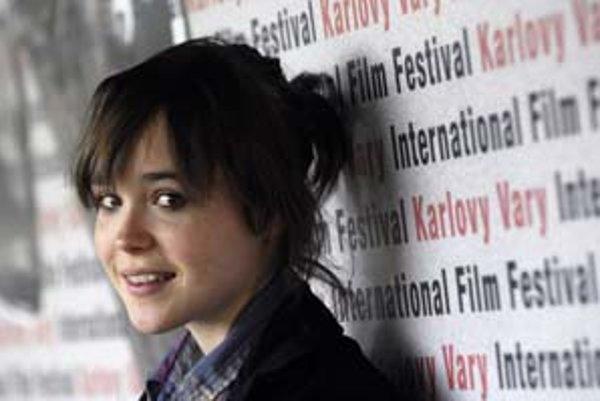 Kanadská herečka Ellen Page predstavila v Karlových Varoch film Tracey: Fragmenty zaradený do sekcie Iný pohľad.