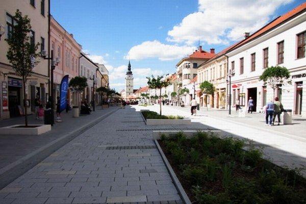 Nová pešia zóna v Trnave.