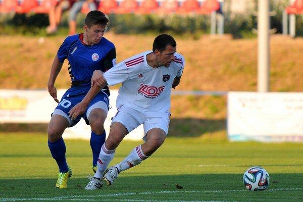 Matej Siva sa v trnavskom drese predstavil aj v stredajšom prípravnom zápase v Červeníku proti Senici, ktorý SPartak vyhral 1:0.