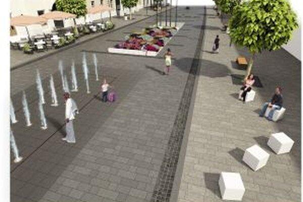 Takto by mala nová pešia zóna v Trnave vypadať.