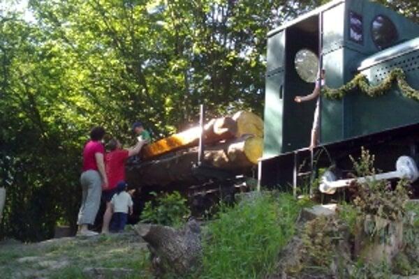 Fragment železnice poteší malých i veľkých.