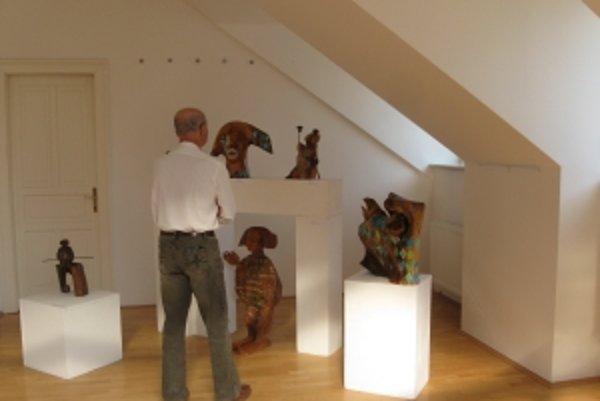 Výstava otca a syna Čutekovcov potrvá v galérii až do septembra.