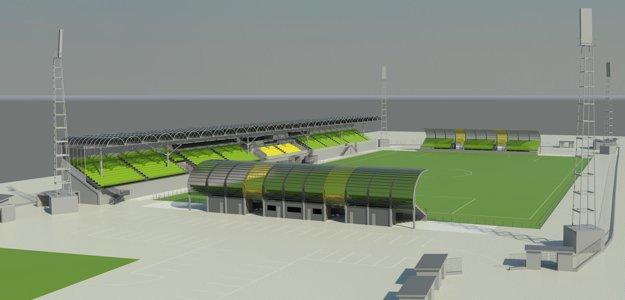 Takto by mal vyzerať štadión v Prievidzi po modernizácii.