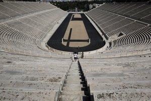 Antický štadión, ktorý Gréci zrekonštruovali pre potreby olympiády pred desiatimi rokmi.