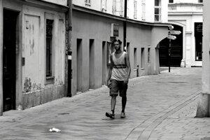 Bratislavské Staré mesto v horúcom leteUršulínska ulica