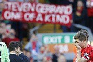 Steven Gerrard neudržal slzy.