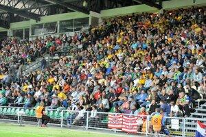 Zápas Žiliny s Athleticom Bilbao si prišli pozrieť plné tribúny.
