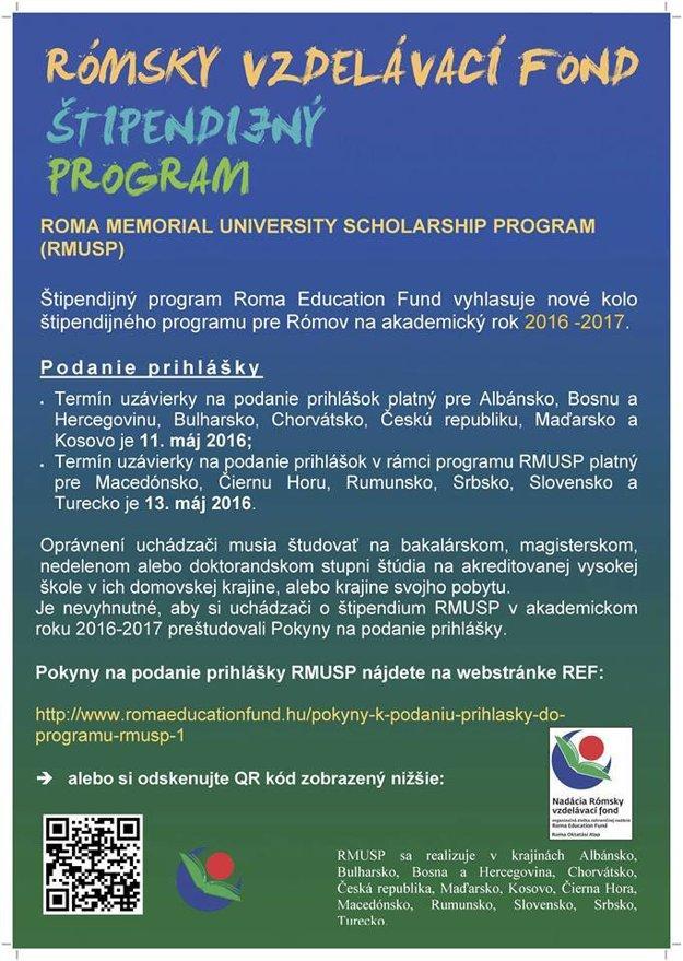Plagát štipendijného programu.