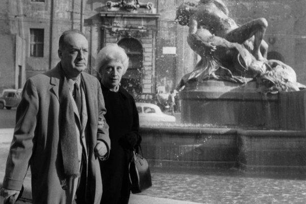 Vladimir Nabokov s manželkou Verou v roku 1959 v Ríme.