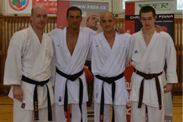 Zľava: Jaroslav Marťák, Christophe Pinna, Christophe Petagna, Kristián Michalec.