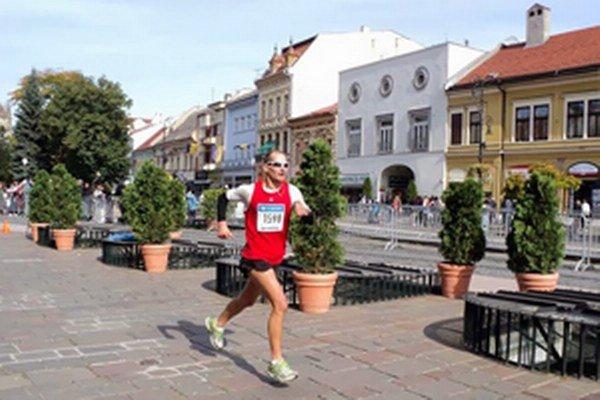 Peter Tichý st. na Medzinárodnom maratóne Mieru v Košiciach.