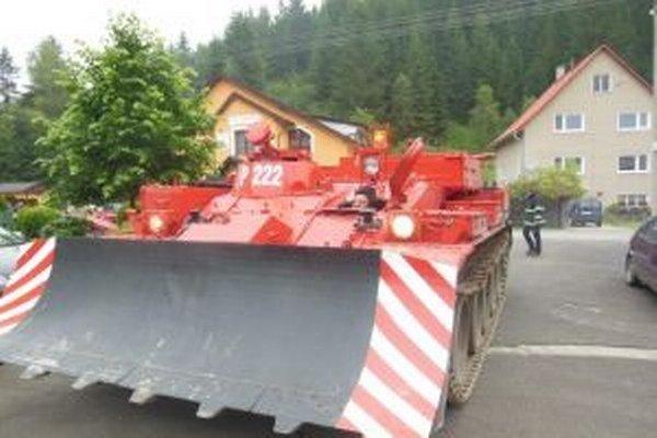 V Korni majú vyprosťovací tank, ktorý priviezli z výcvikového strediska v Martine.