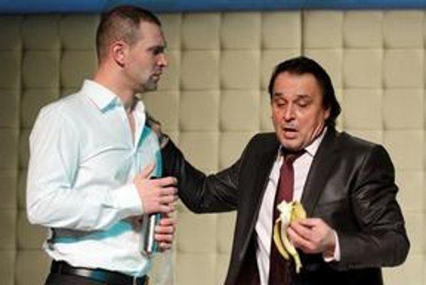 Tomáš  Maštalír a Jozef Vajda v hre Ksicht.