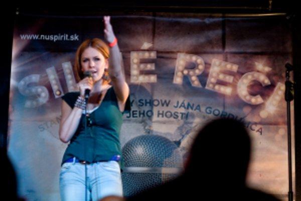 Kristína Farkašová v Nu Spirit Clube v Bratislave.