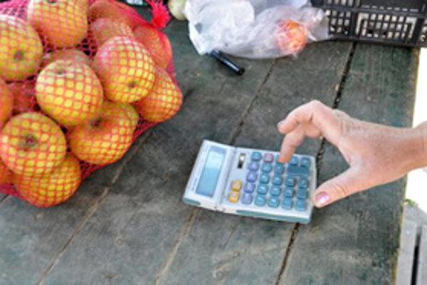 Poľskí predajcovia si vystačia s kalkulačkou.