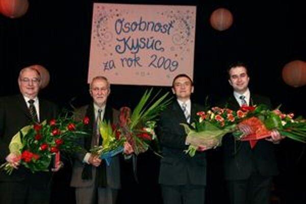 Ocenení – zľava Stanislav Palúch, Bartolomej Gernát, Milan Pollák a Ján Podmanický.