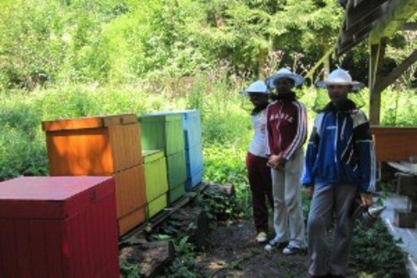 Malí včelári sa včelích robotníčok neboja. Majú však pred nimi rešpekt.