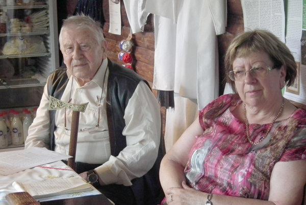 S manželkou Ľudmilou.