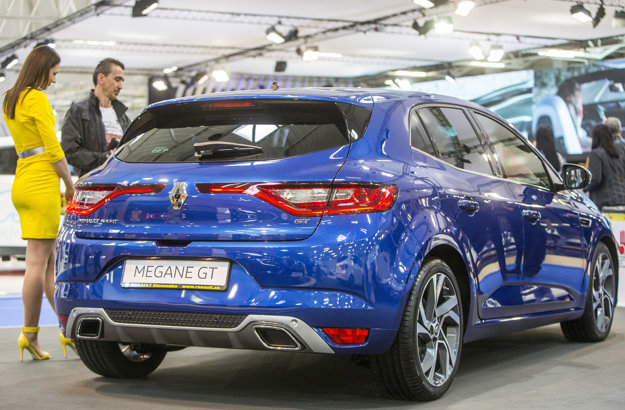 V stánku Renaultu našli svoje miesto aj modely Mégane a Mégane Grandtour.