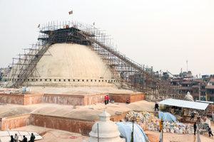 Najväčšia tibetská stupa.