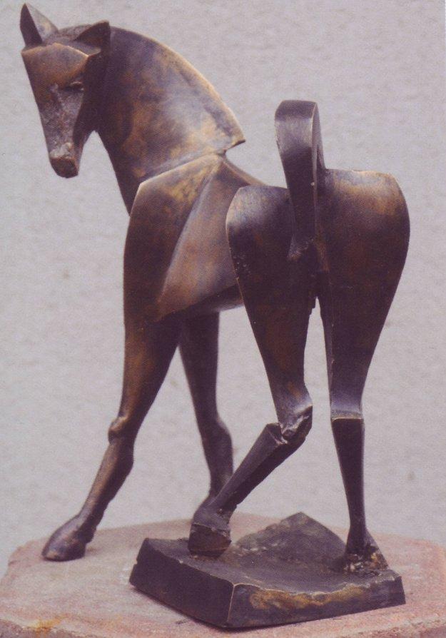 Bronzová socha.