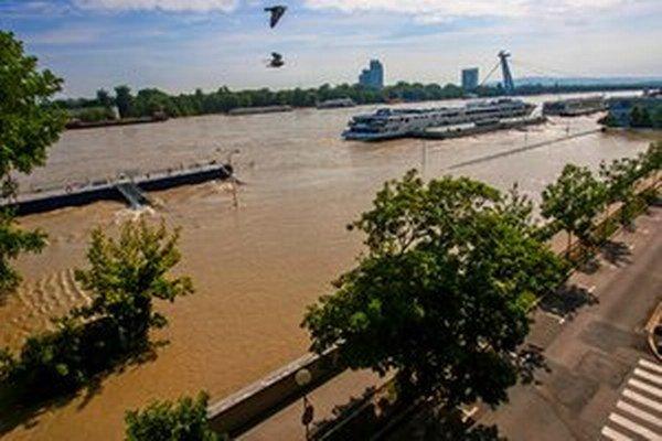 Povodne v Bratislave.