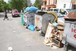 Keď nie je miesto inde, veľký odpad končí pri kontajneroch alebo v lese.